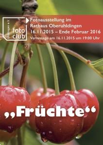 Plakat Früchte 850x1200